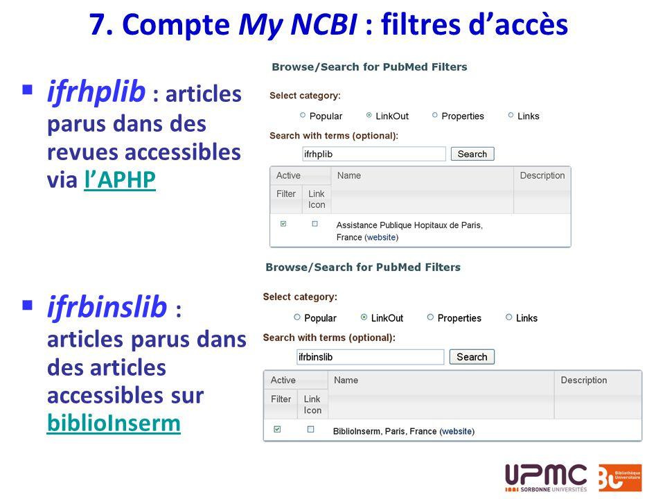 ifrhplib : articles parus dans des revues accessibles via lAPHPlAPHP ifrbinslib : articles parus dans des articles accessibles sur biblioInserm biblio