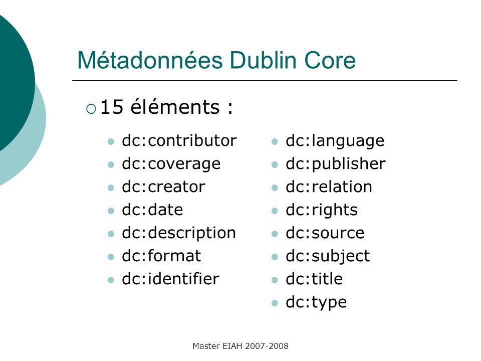 Passons à la pratique Ouvrir MetaLab http://www.uel.education.fr/metatest/ Faire une indexation de votre production Regarder le xml produit