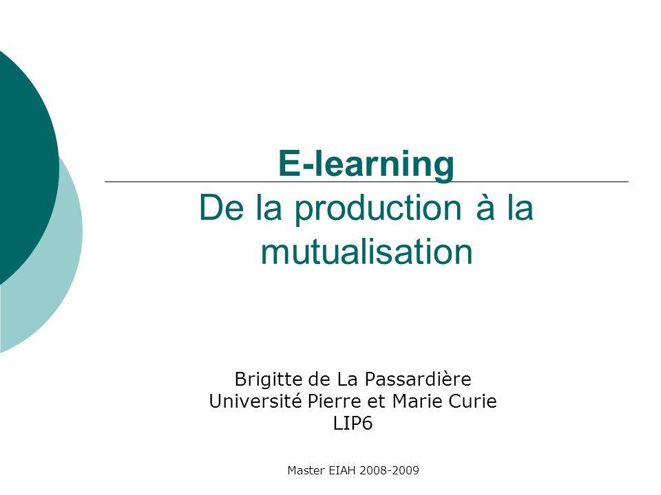 Cours 3 Mutualisation des ressources Indexation de ressources pédagogiques diverses Extension dun profil dapplication Master EIAH 2008-2009
