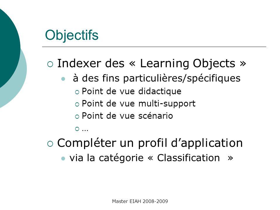 Indexer pour construire des parcours Contexte Exercices de diagnostic en mathématiques Problématique Construire des parcours de diagnostic Retrouver à partir de critères didactiques Indexer avec des nouvelles caractéristiques Master EIAH 2007-2008