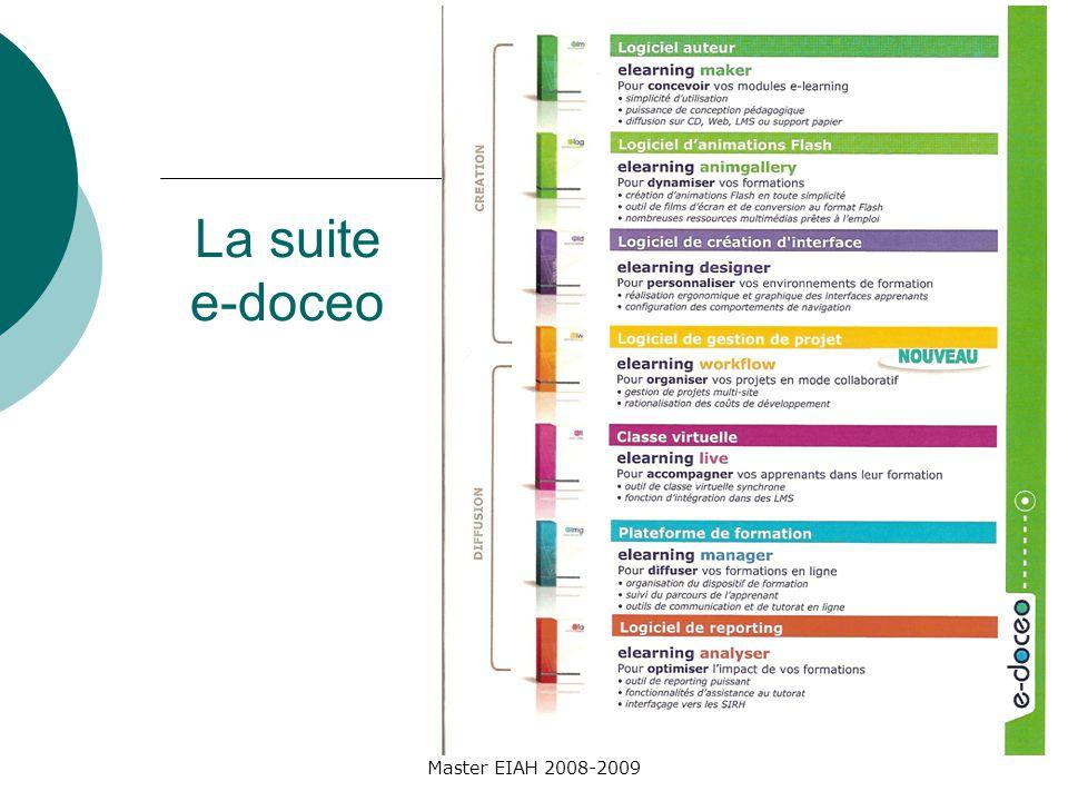Master EIAH 2008-2009 La suite e-doceo