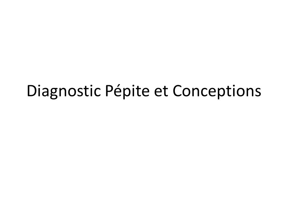 Diagnostic Pépite et Conceptions