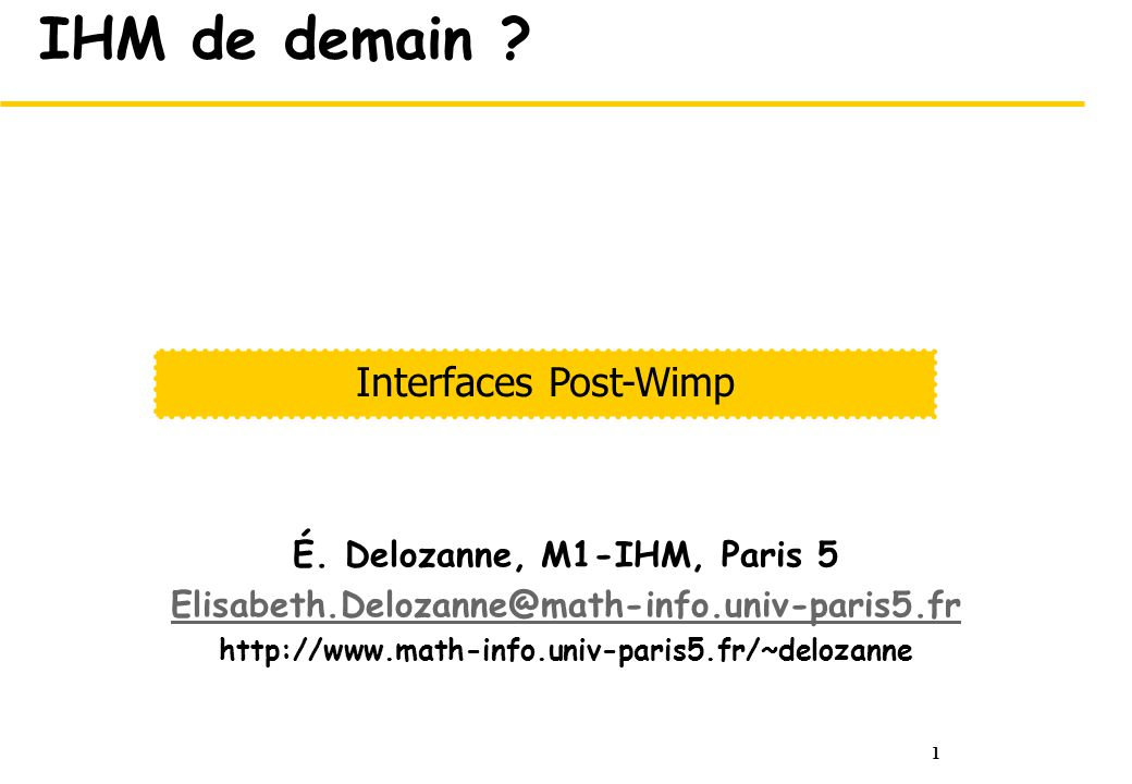 2 IHM post Wimp .