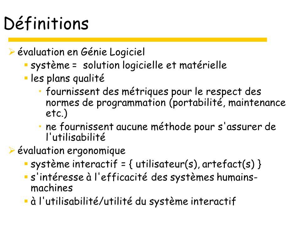 25 Adaptabilité Définition : Un système est adaptatif quand il est capable de réagir selon le contexte, et selon les besoins et préférences des utilisateurs Un système est adaptable quand il permet à l utilisateur de le paramétrer 2 sous-critères Flexibilité (adaptabilité) Prise en compte de lexpérience de lutilisateur (adaptativité)