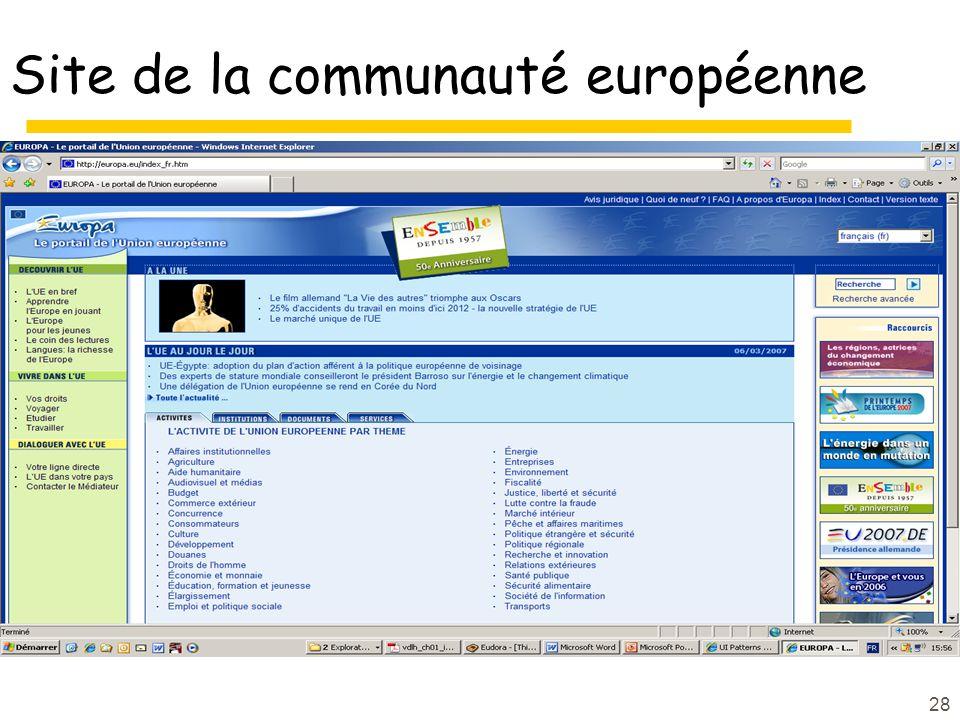28 Site de la communauté européenne