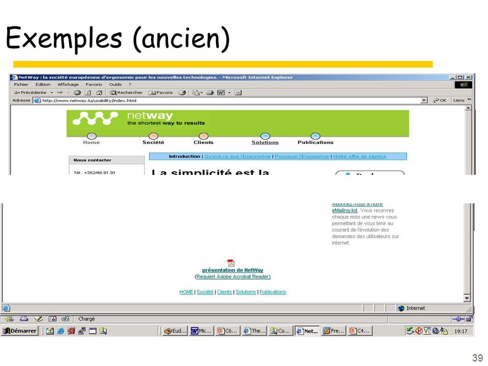 39 Exemples (ancien)