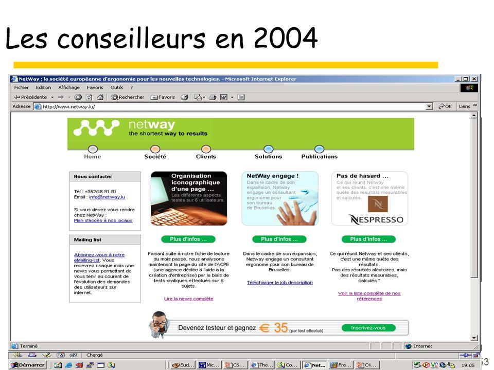 53 Les conseilleurs en 2004