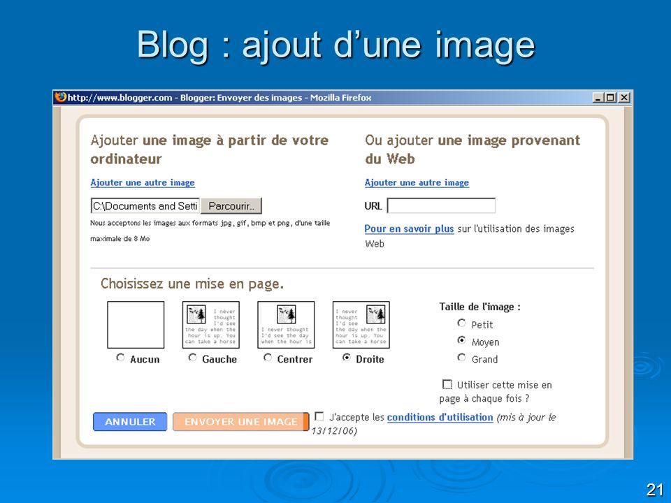 21 Blog : ajout dune image