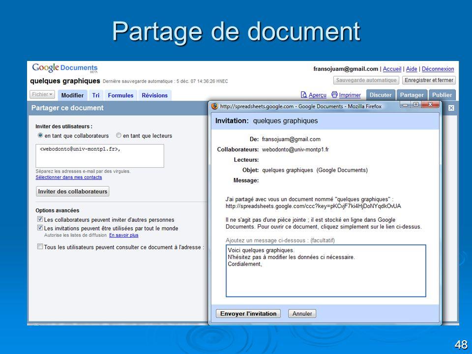 48 Partage de document