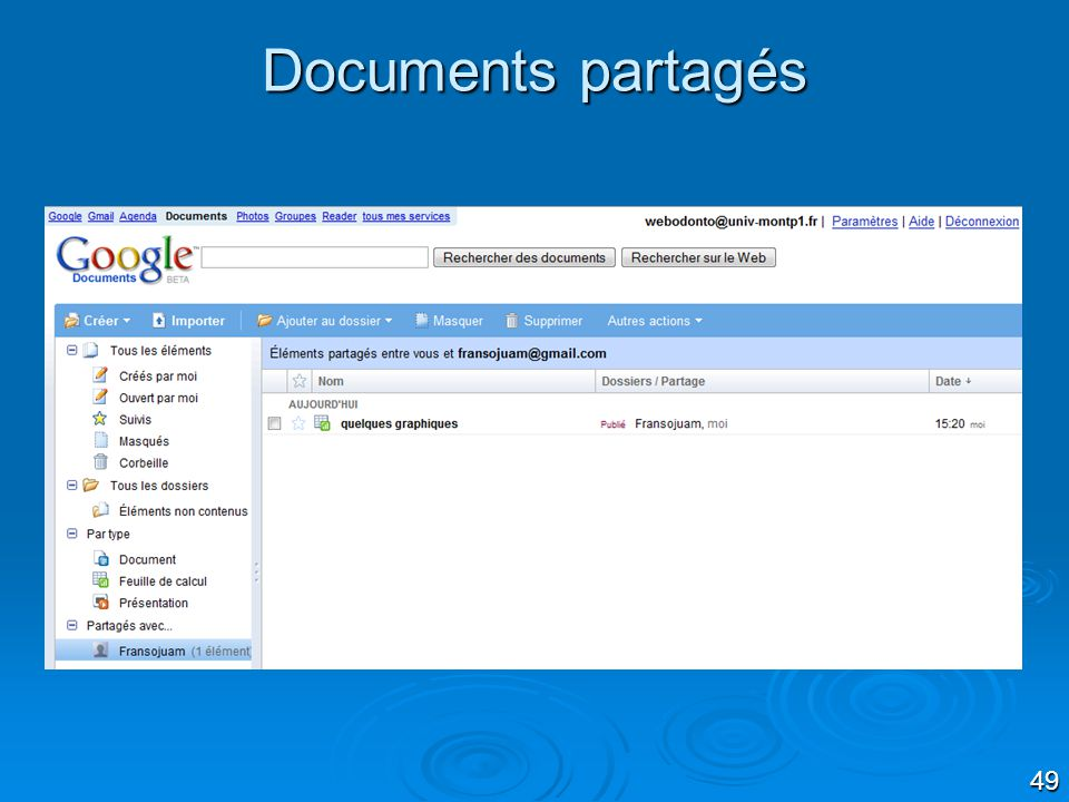 49 Documents partagés