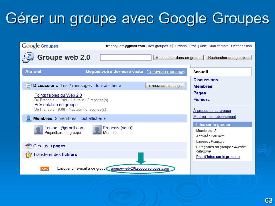 63 Gérer un groupe avec Google Groupes