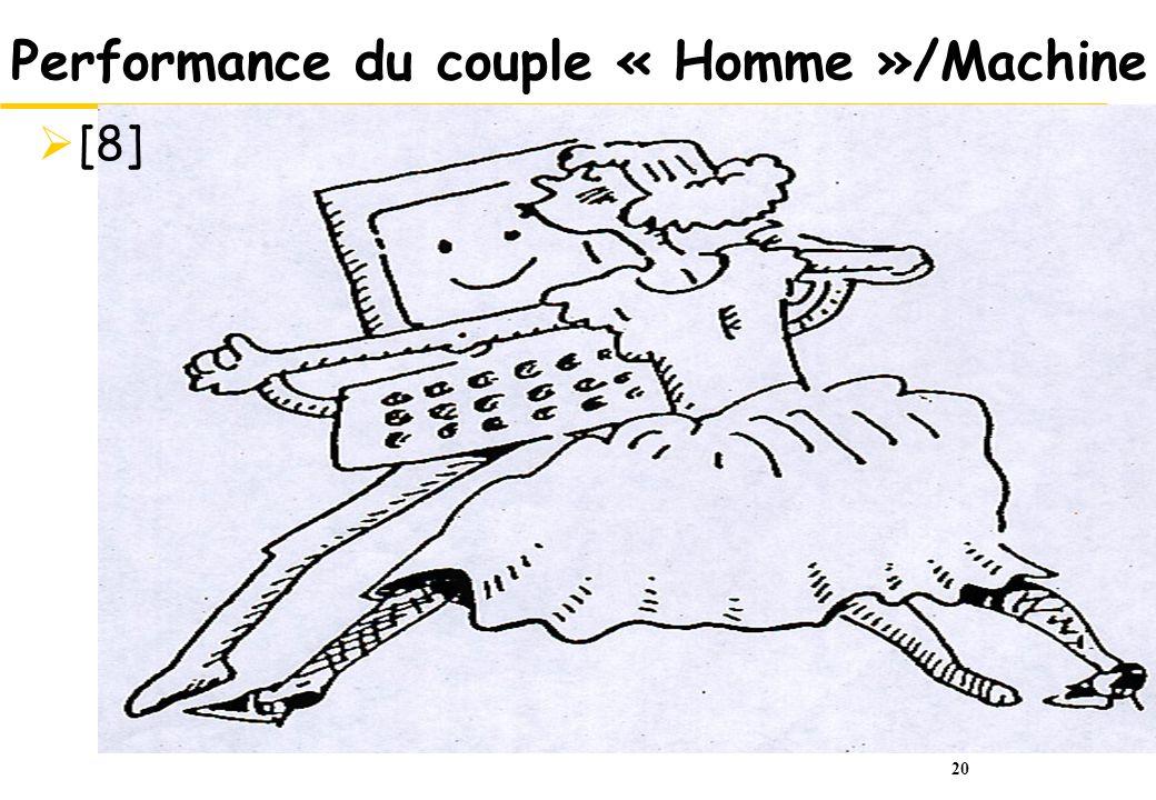 20 Performance du couple « Homme »/Machine [8]