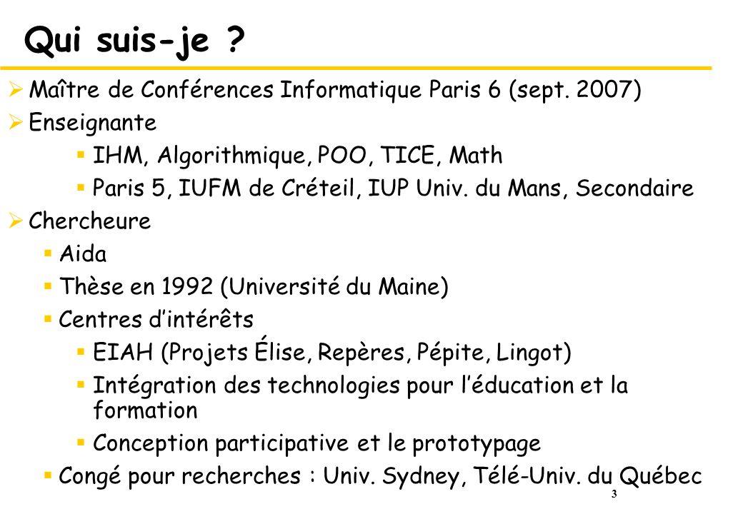 44 Références (2/2) Jocelyne NANARD, La manipulation directe en Interface Homme-Machine, Thèse dÉtat, Université des Sciences et Techniques du Languedoc, Montpellier, Décembre 1990 (introduction et chapitre 1) Donald Norman, S.