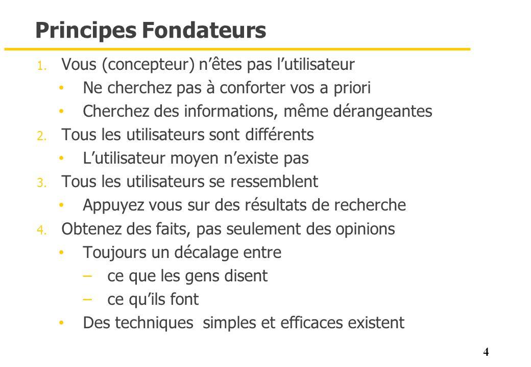 55 Analyse de tâches (Brekeley 2011) 1.Qui va utiliser le système .