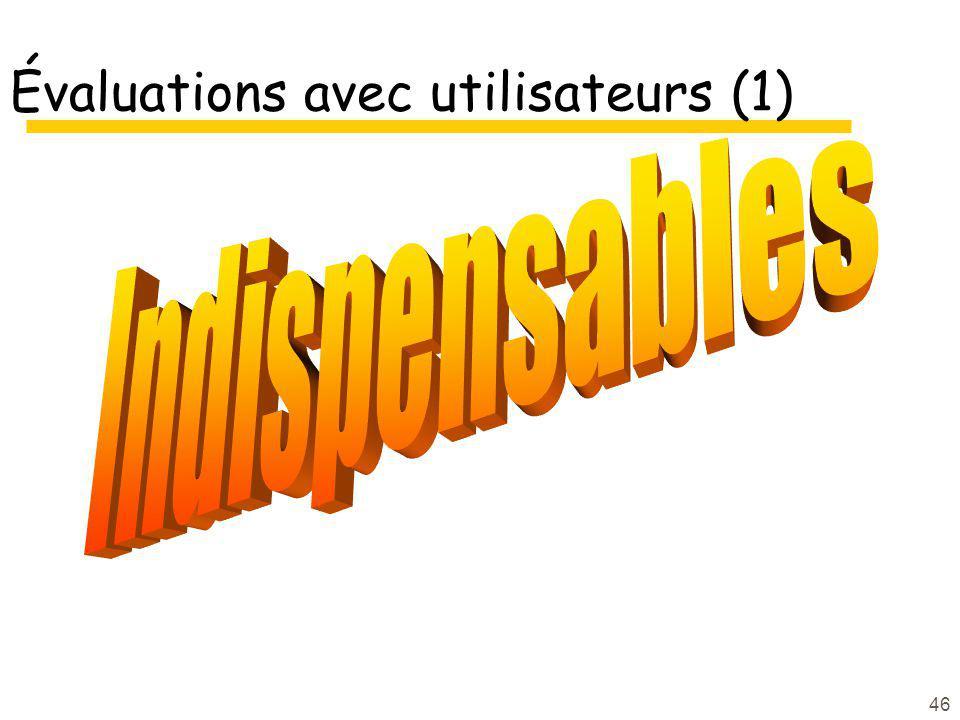 46 Évaluations avec utilisateurs (1)
