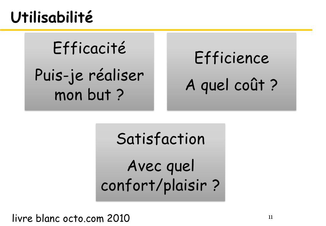 11 Utilisabilité Efficacité Puis-je réaliser mon but .