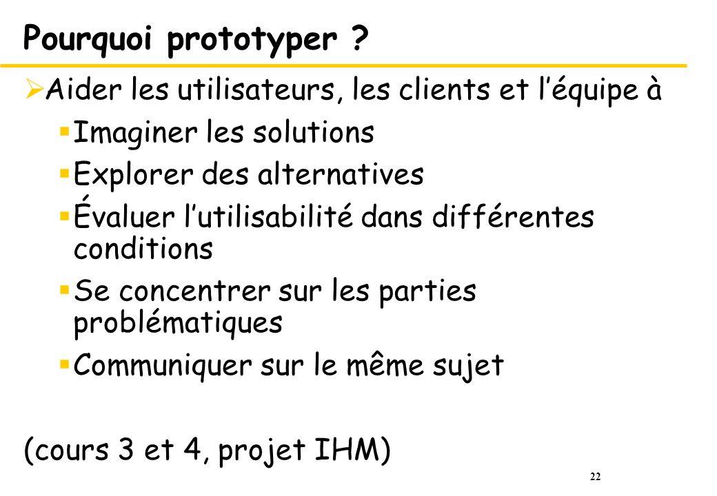 22 Pourquoi prototyper .