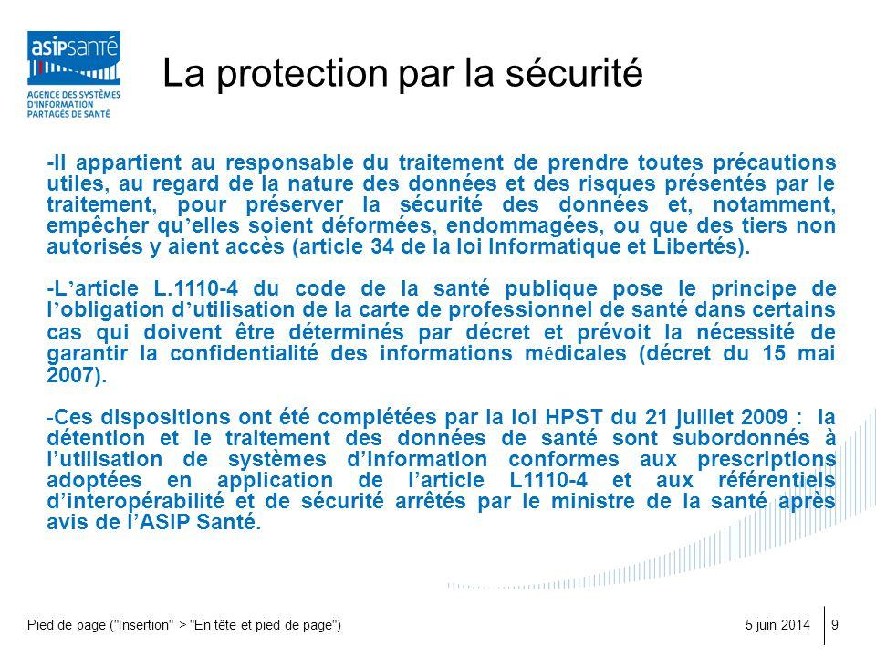 La protection par la sécurité 5 juin 2014Pied de page (