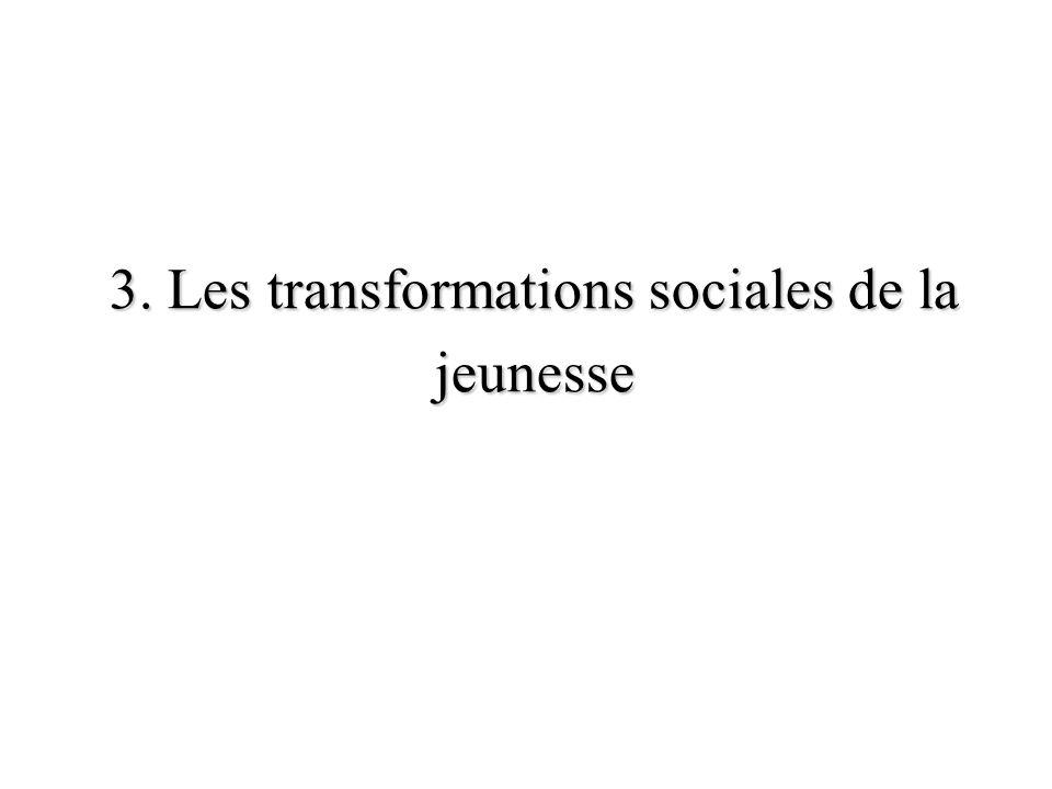 3. Les transformations sociales de la jeunesse