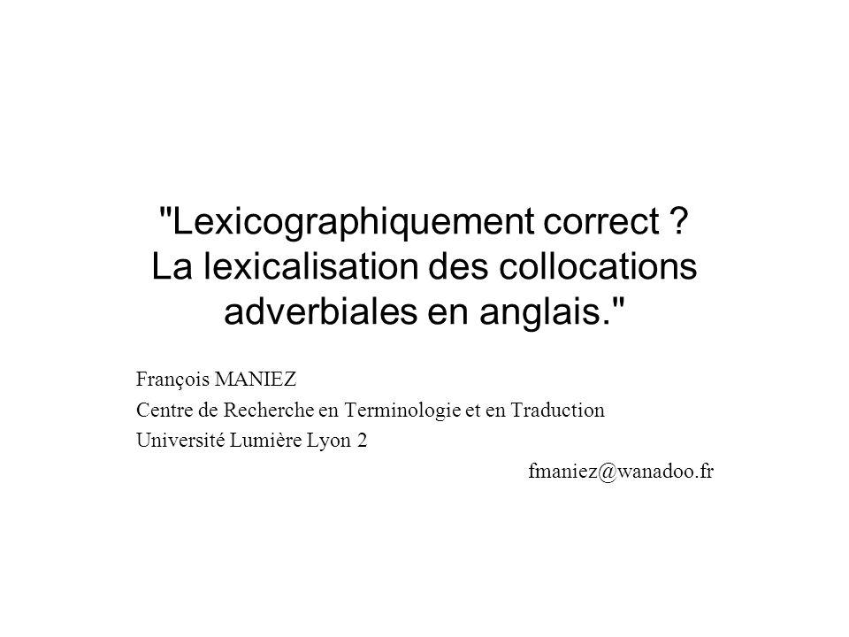 Lexicographiquement correct .