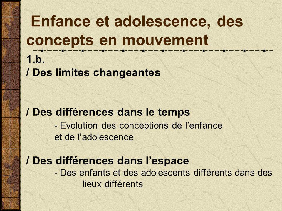 Enfance et adolescence, des concepts en mouvement 1.b.