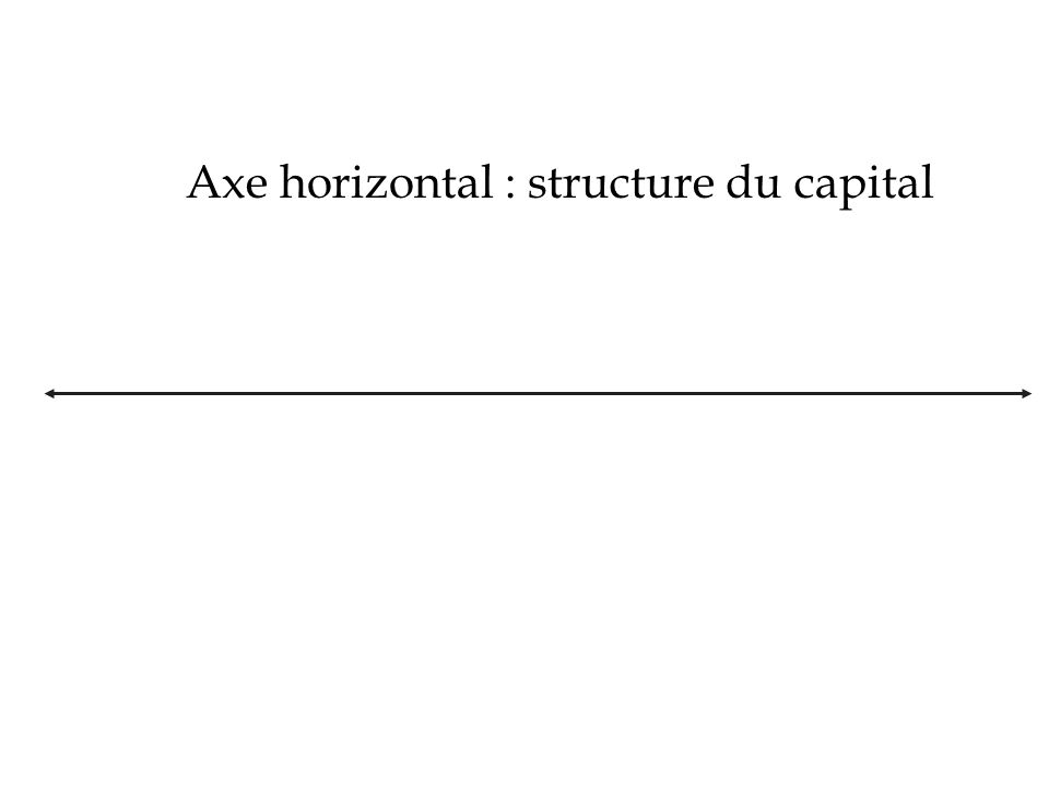 Axe horizontal : structure du capital