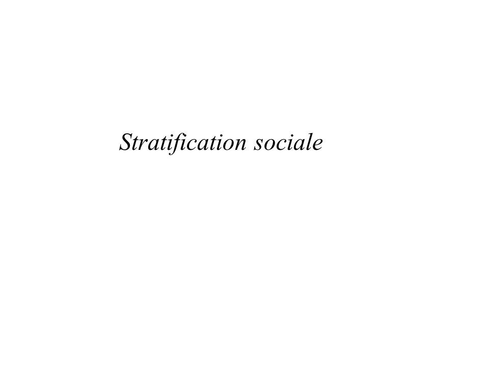 Stratification sociale