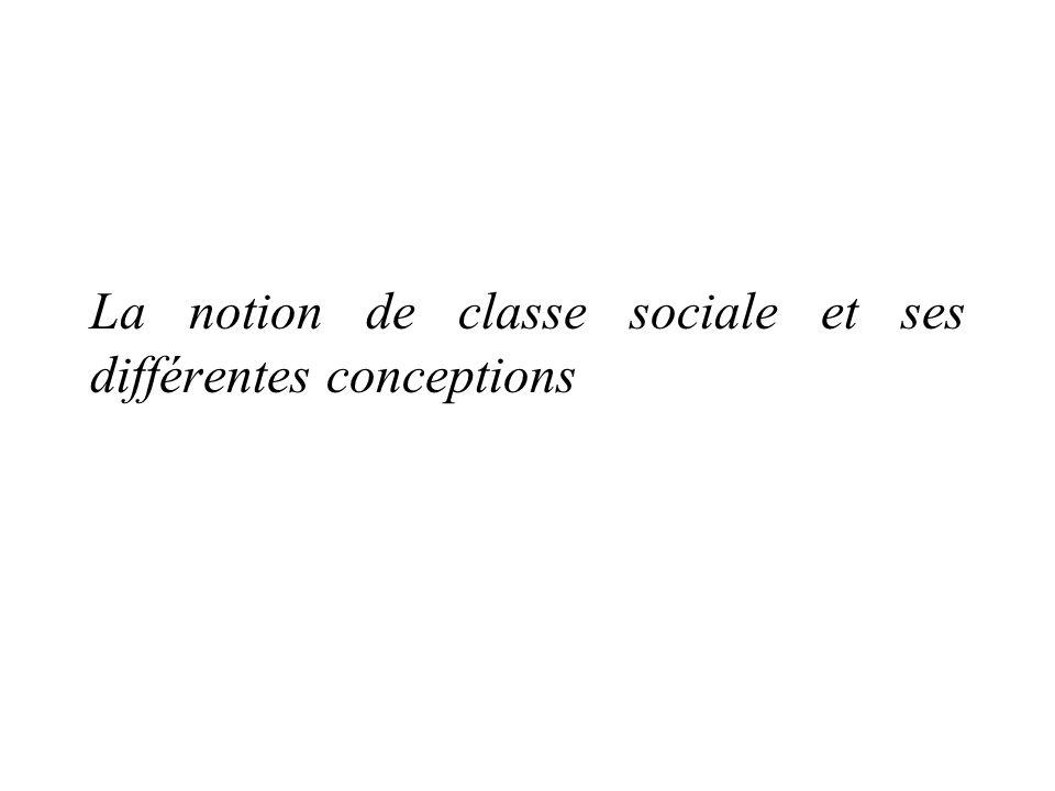 La notion de classe sociale et ses différentes conceptions