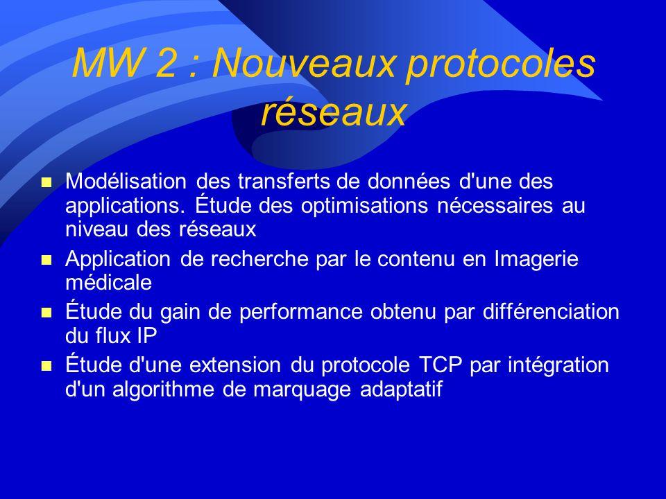Lot 4 : Middleware gestion des ressources de calculs MW1 - Clic et EDG-Testbed à léchelle de la région ==> Evolution vers Grid 5000 ? MW2 - Nouveaux p