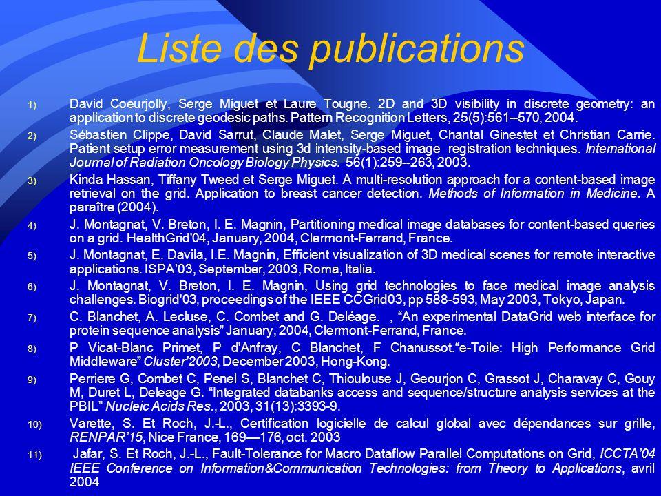 Intéractions entre partenaires pendant lannée 1 LIRISLIPIBCPCREATISIN2P3IDTIMC Applications XXXX Bases de données XX Accès aux données XXX Ressources
