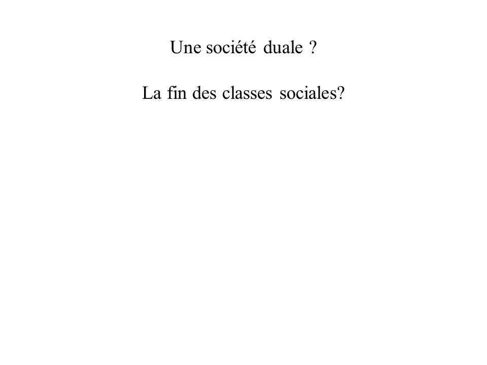 Une société duale ? La fin des classes sociales?