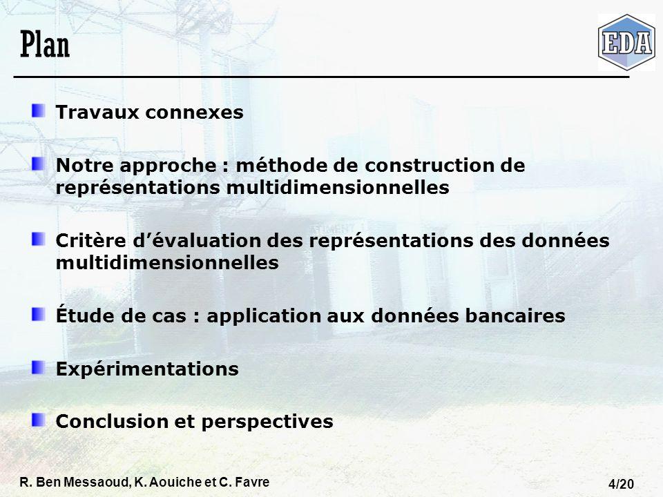 R. Ben Messaoud, K. Aouiche et C. Favre 4/20 Plan Travaux connexes Notre approche : méthode de construction de représentations multidimensionnelles Cr