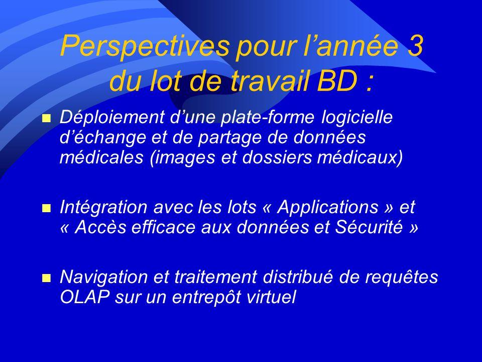 BD3 : Entrepôts de données médicales sur la Grille n Problématique : répartition et mise à jour des informations entreposées issues de bases de donnée