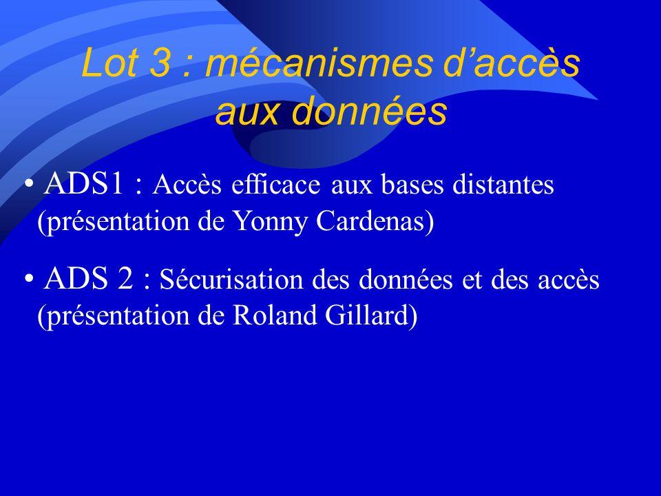 Perspectives pour lannée 3 du lot de travail BD : n Déploiement dune plate-forme logicielle déchange et de partage de données médicales (images et dos