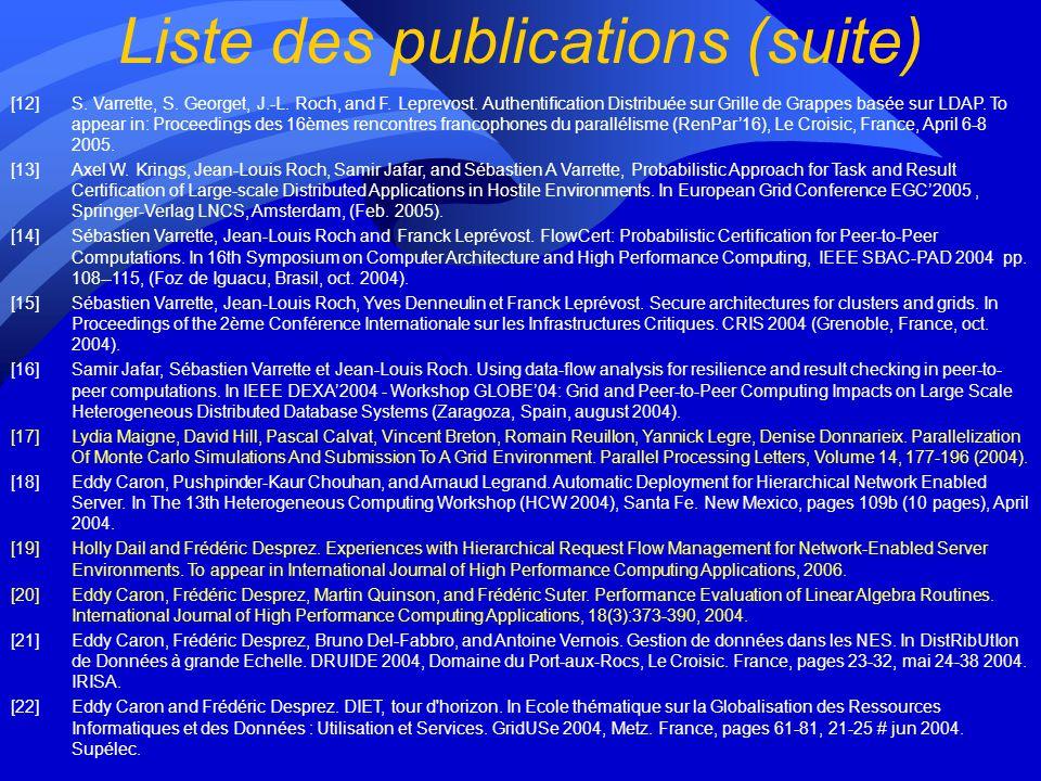 Liste des publications [1]J. Montagnat, F. Bellet, H. Benoit-Cattin, V. Breton, L. Brunie, H. Duque, Y. Legré, I. E. Magnin, L. Maigne, S. Miguet, J.-