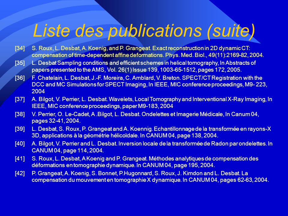 Liste des publications (suite) [23]Eddy Caron and Holly Dail. GoDIET: a tool for managing distributed hierarchies of DIET agents and servers. Research