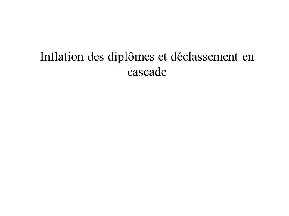 Inflation des diplômes et déclassement en cascade