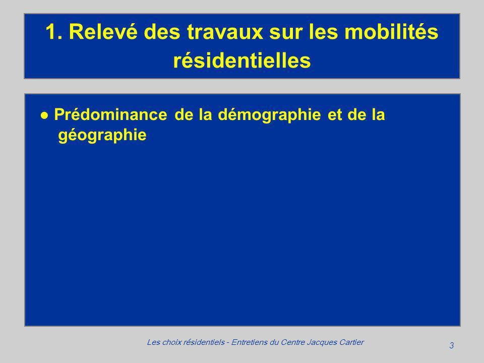3 Les choix résidentiels - Entretiens du Centre Jacques Cartier 1.