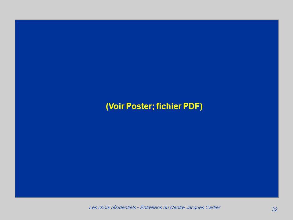 32 Les choix résidentiels - Entretiens du Centre Jacques Cartier (Voir Poster; fichier PDF)