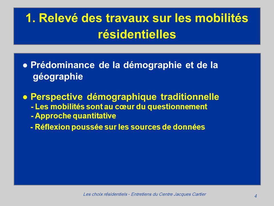 4 Les choix résidentiels - Entretiens du Centre Jacques Cartier 1.