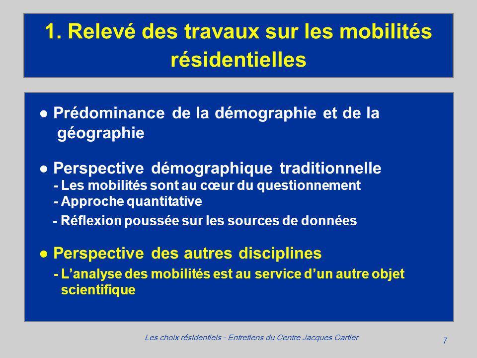 7 Les choix résidentiels - Entretiens du Centre Jacques Cartier 1.
