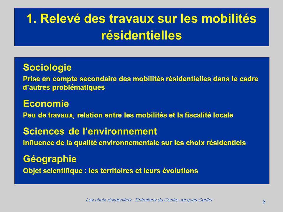8 Les choix résidentiels - Entretiens du Centre Jacques Cartier 1.