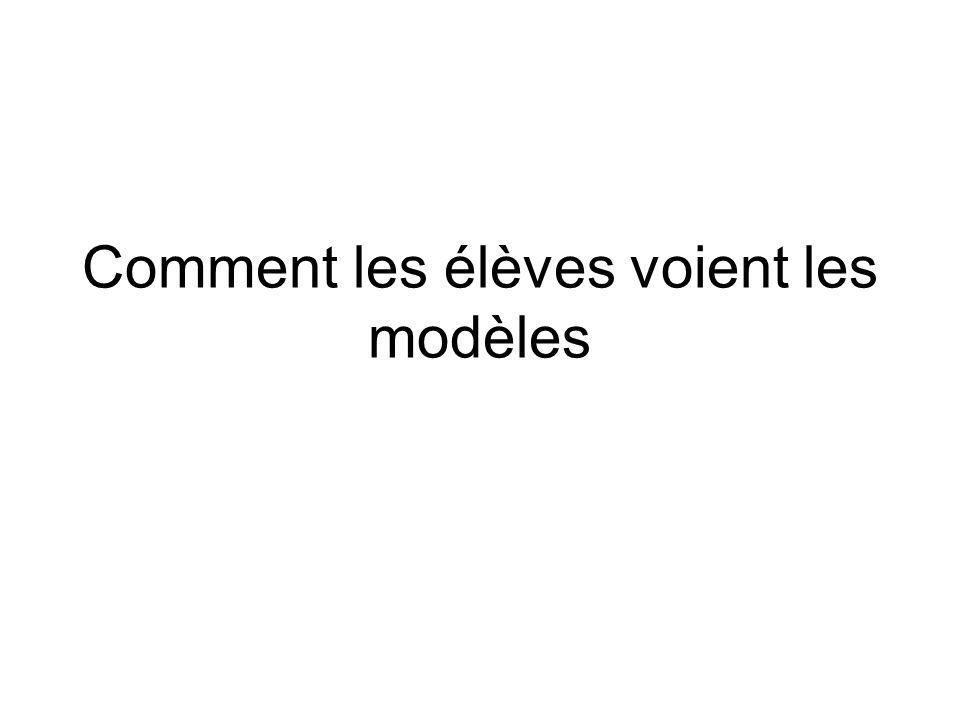 Comment les élèves voient les modèles