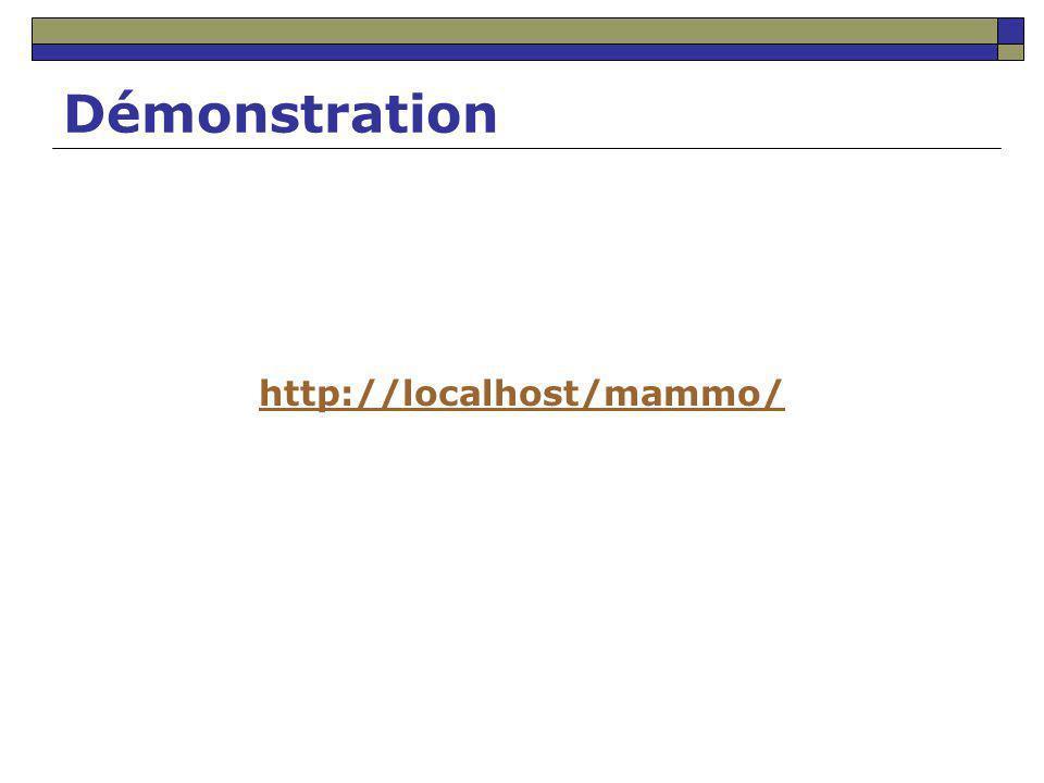 Démonstration http://localhost/mammo/