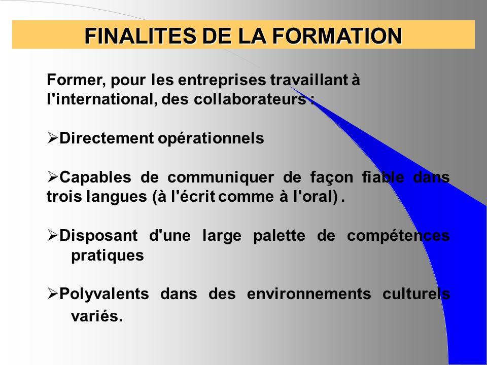 PROGRAMME TECHNIQUE Le développement international de l entreprise - Environnement économique européen (en anglais) - Marketing et stratégie à l international (en anglais) - Négociation et vente internationales (en anglais) - La démarche Export (COFACE)
