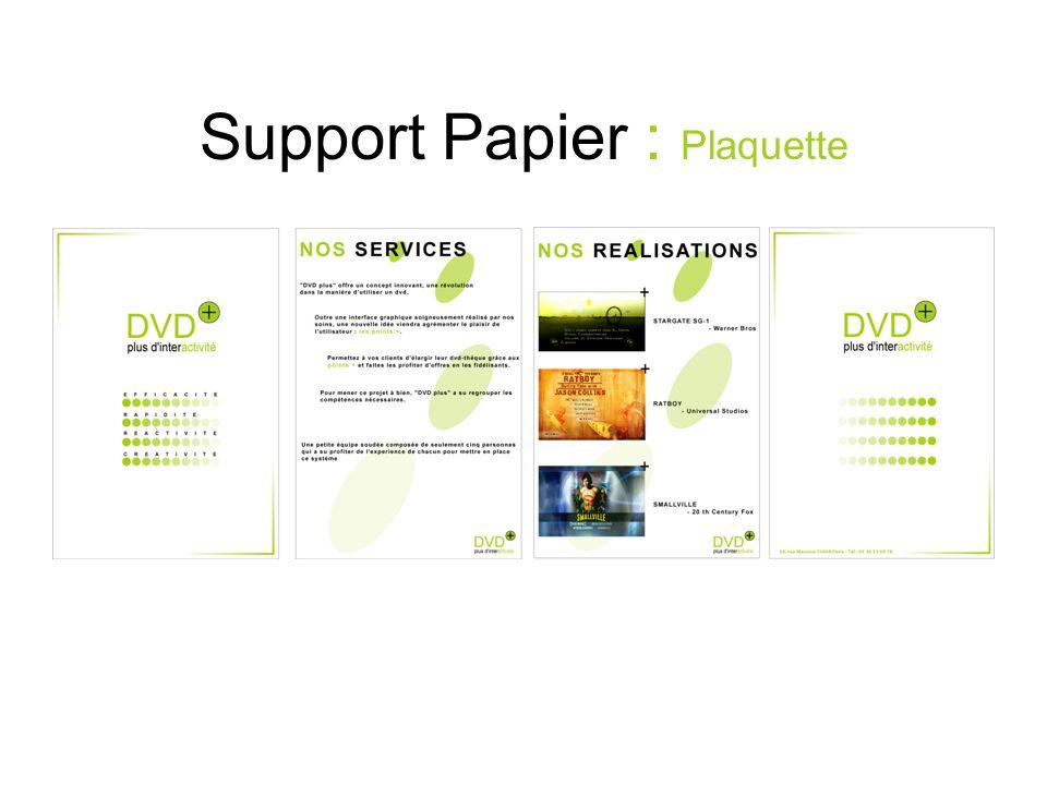 Support Papier : Plaquette