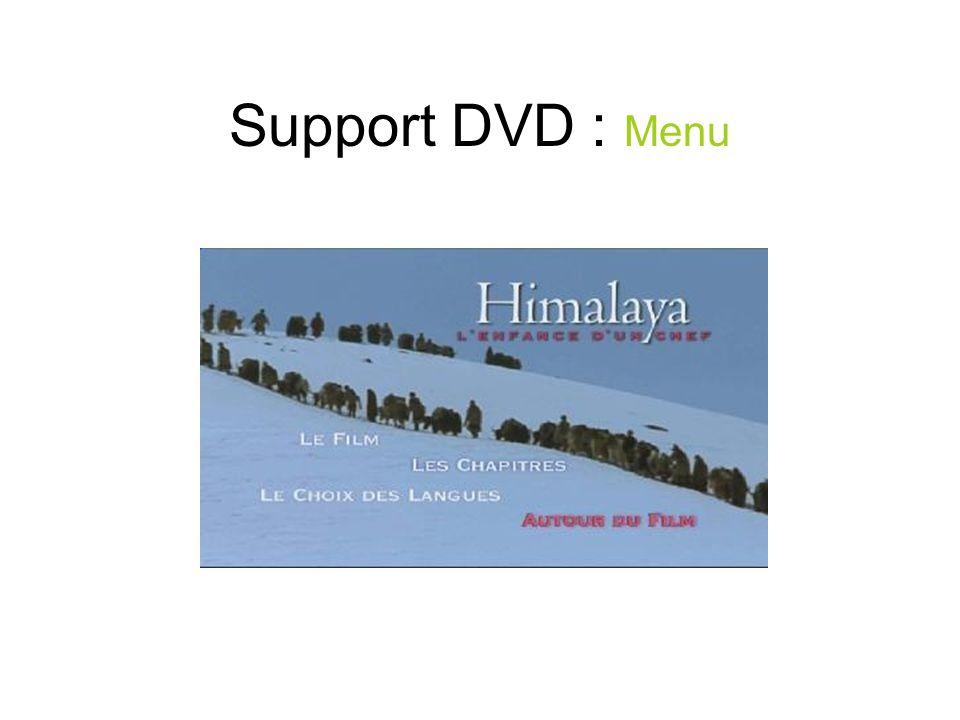 Support DVD : Menu