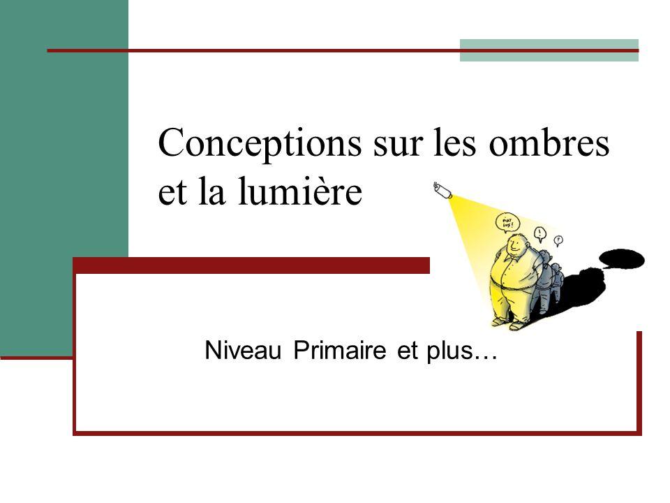 Conceptions sur les ombres et la lumière Niveau Primaire et plus…