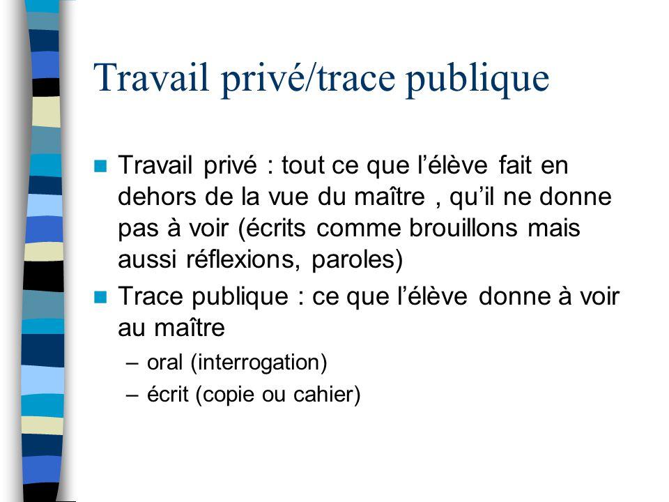 Privé /public Le rapport personnel a deux composantes : –Composante publique du rapport –Composante privée qui échappe à lévaluation de I