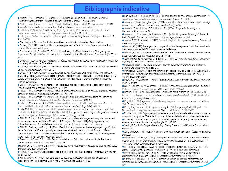 Bibliographie indicative Abrami, P.C., Chambers, B., Poulsen, C., De Simone, C., d Apollonia, S.